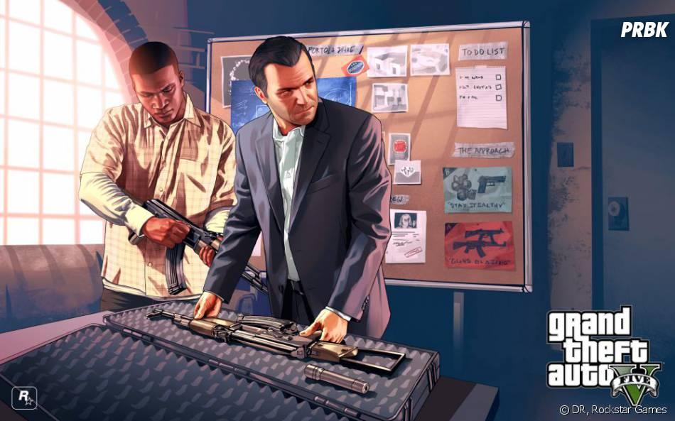 GTA 5 : Michael et Franklin préparant un casse