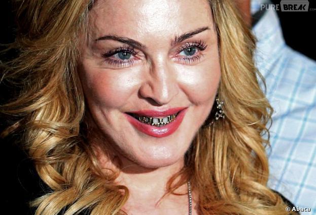 """Madonna et son look """"Joey Starr"""" à Rome le 21 août 2013"""