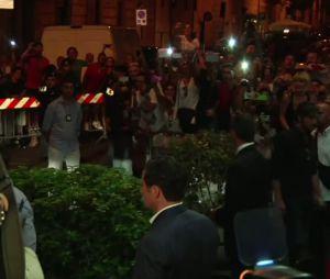 Madonna à Rome le 21 août 2013 pour l'ouverture de son centre de fitness