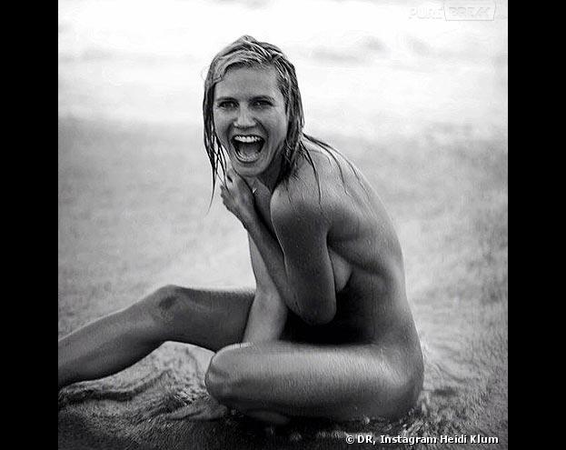 Heidi Klum pose complètement nue sur Instagram
