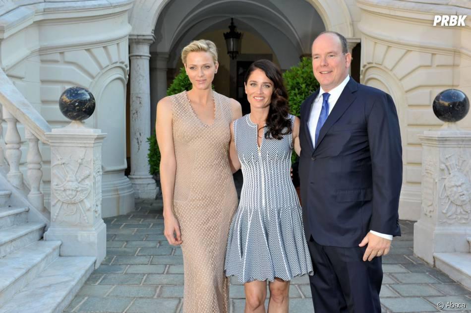 Mentalist saison 5 : Robin Tunney en compagnie du Prince Albert et de Charlene