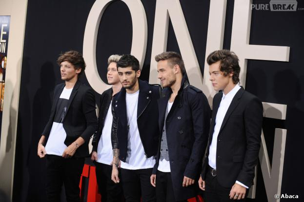 Les One Direction à l'avant-première de leur film This is Us à New York le 26 août 2013