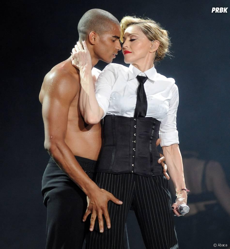 Madonna a assisté à une répétition du spectacle Robin des Bois en compagnie de M. Pokora