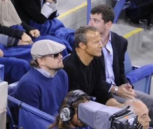 Leonardo Dicaprio venu applaudir Rafael Nadal et Novak Djokovic lors de l'US Open 2013