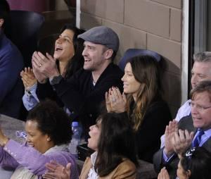Jessica Biel et Justin Timberlake venus applaudir Rafael Nadal et Novak Djokovic lors de l'US Open 2013