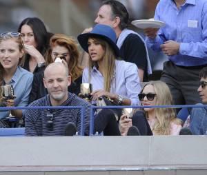 Jessica Alba et Amanda Seyfried venues applaudir Rafael Nadal et Novak Djokovic lors de l'US Open 2013