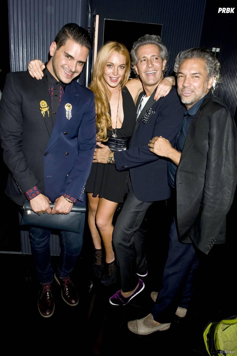 Lindsay Lohan, Markus Molinari et ses amis, le 11 septembre 2013 à New York