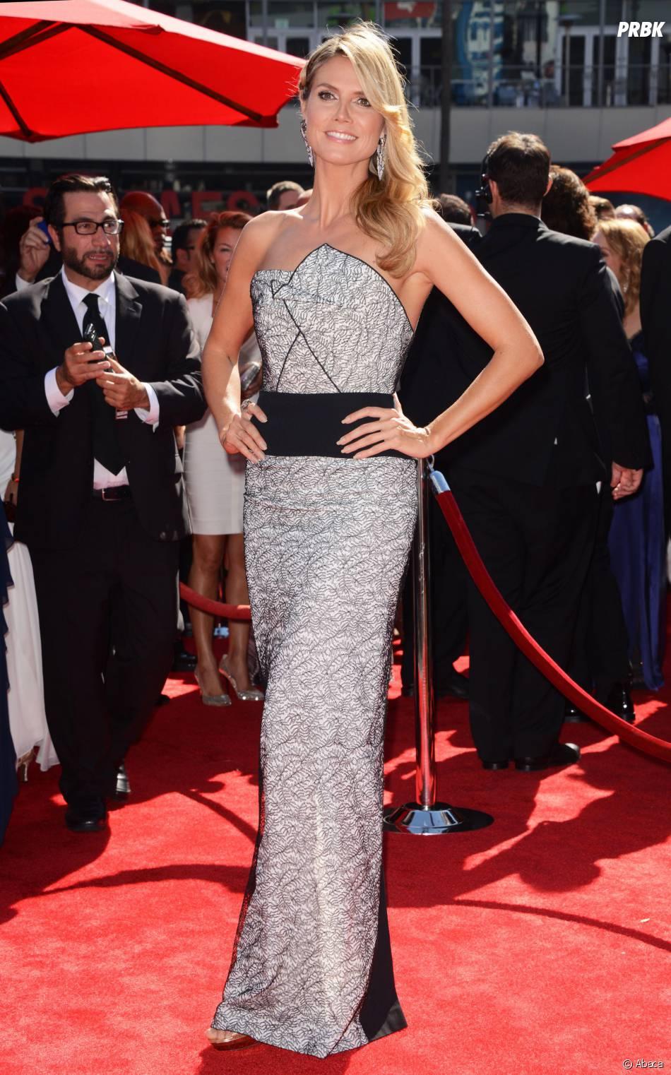 Heidi Klum sur le tapis-rouge des Creative Arts Emmy Awards 2013 le 15 septembre 2013