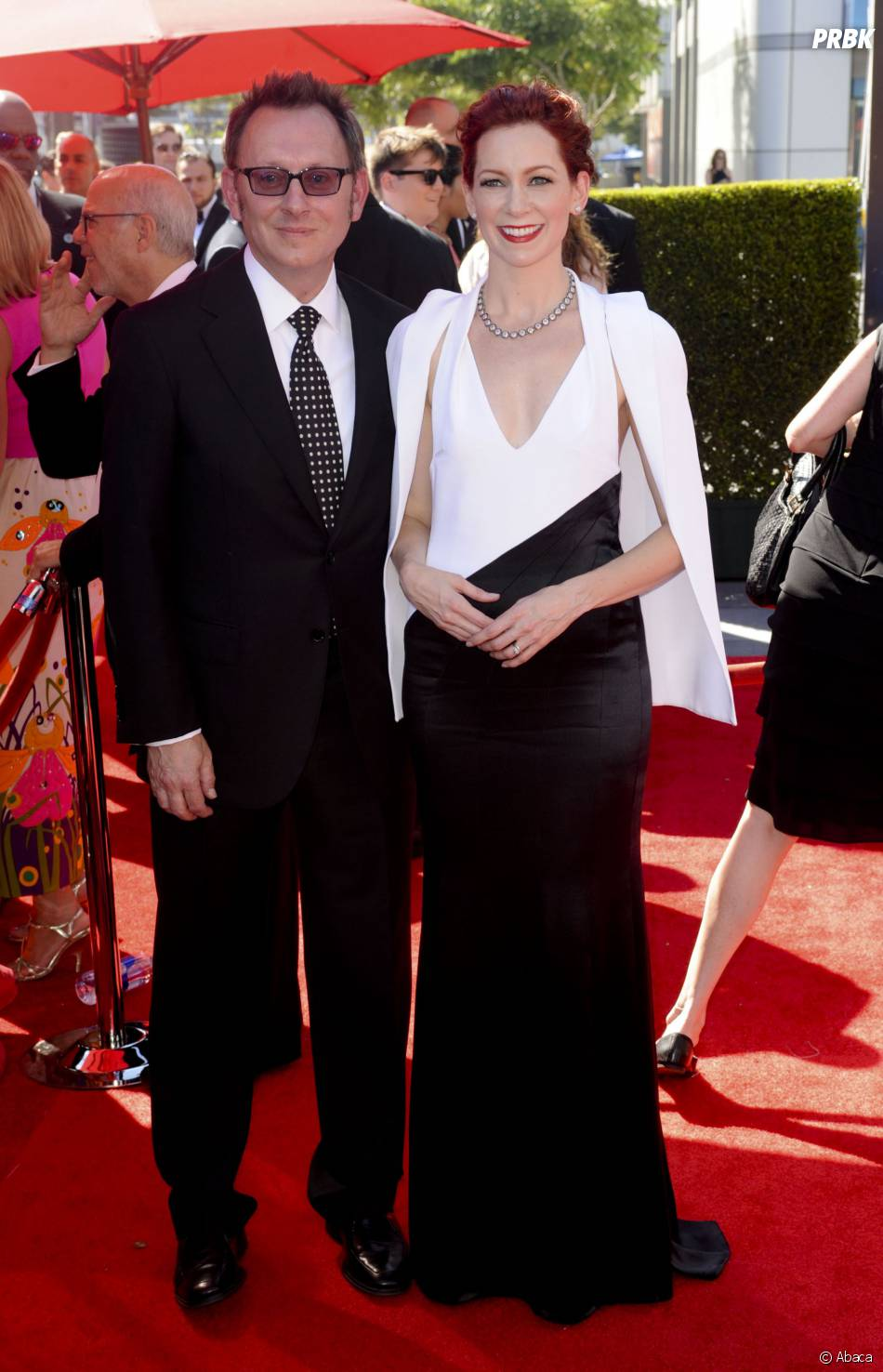 Carrie Preston et Michael Emerson aux Creative Arts Emmy Awards 2013 le 15 septembre 2013