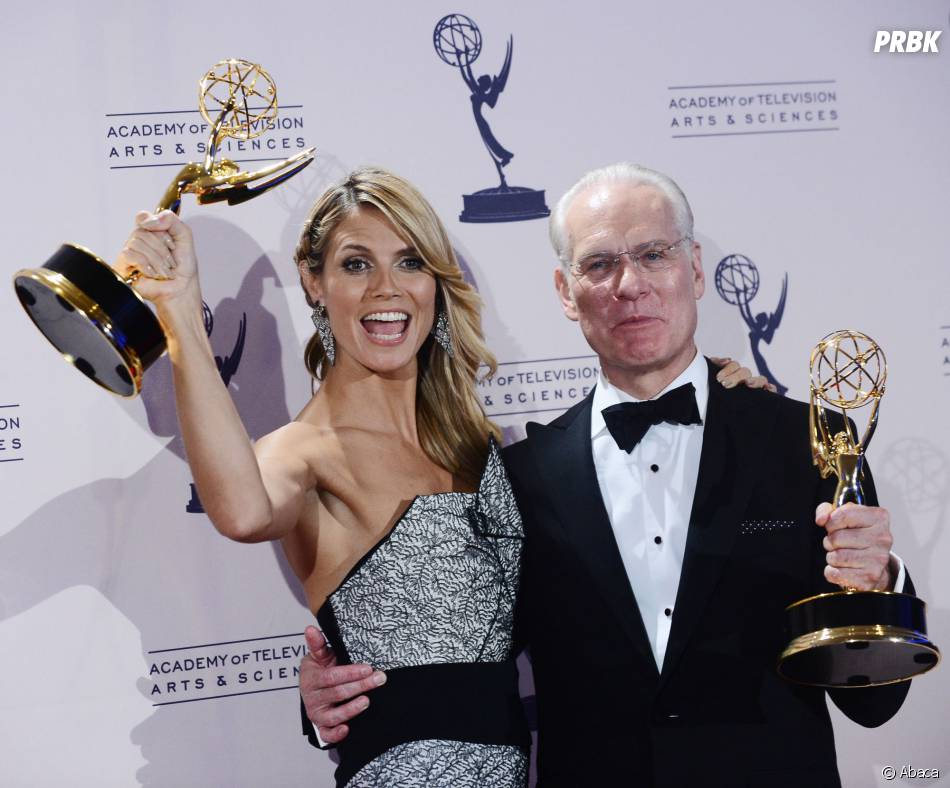 Heidi Klum et Tim Gunn aux Creative Arts Emmy Awards 2013 le 15 septembre 2013