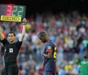 Eric Abidal : dernière entrée au Camp Nou, le 6 juin 2013