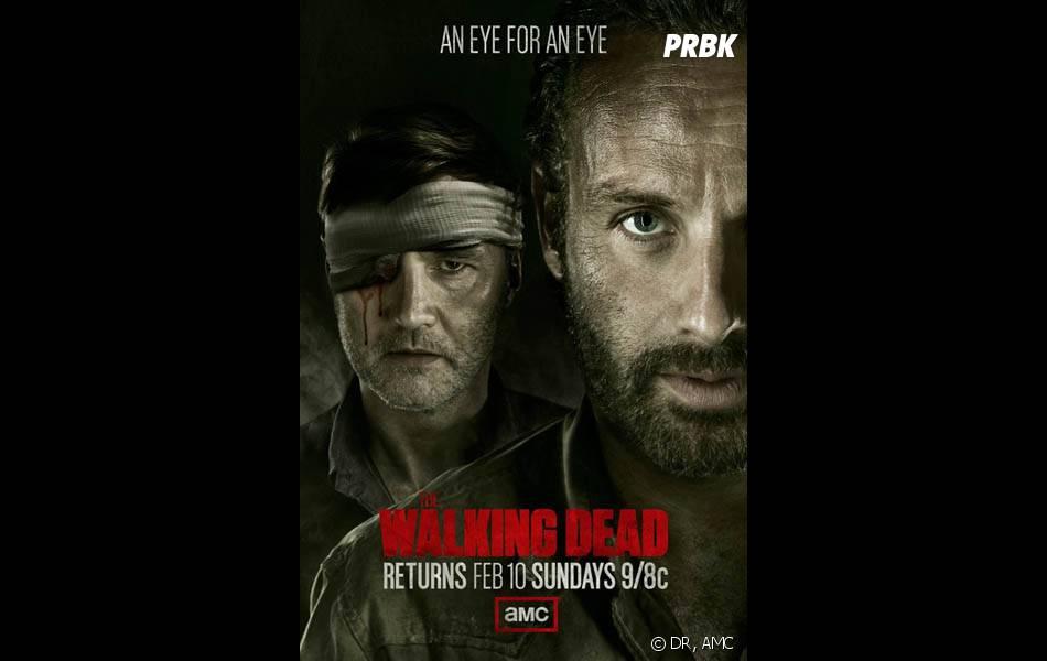Walking Dead saison 3 : poster avec David Morrisseyet Andrew Lincoln