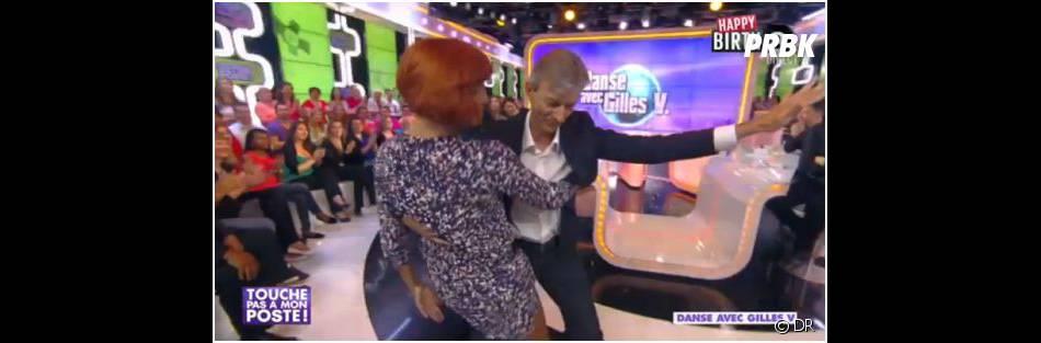 TPMP : Gilles Verdez profite d'une danse avec Fauve Hautot, le 8 octobre 2013 sur D8