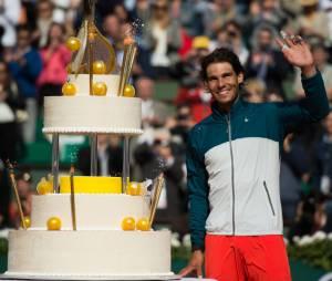 Rafael Nadal très souriant après sa victoire en huitième de finale de Roland Garros 2013