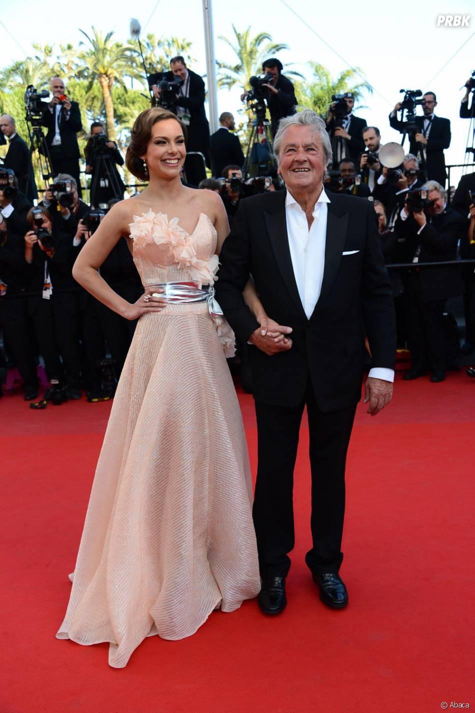 Alain Delon et Marine Lorphelin au Festival de Cannes 2013