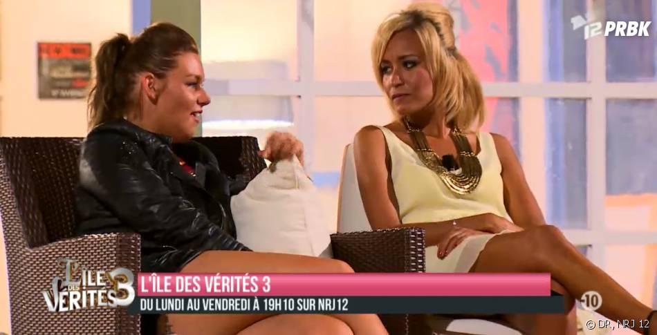 L'île des vérités 3 : Aurélie Van Dalen discute avec Malika et Monira