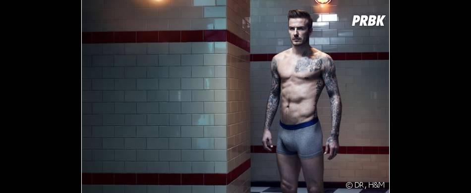David Beckham torse nu pour sa collection hiver 2013 pour H&M