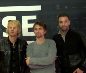 """Muse à l'avant-première de leur film-concert """"Muse Live at Rome Olympic Stadium"""", à la Geode de Paris, le 5 novembre 2013"""