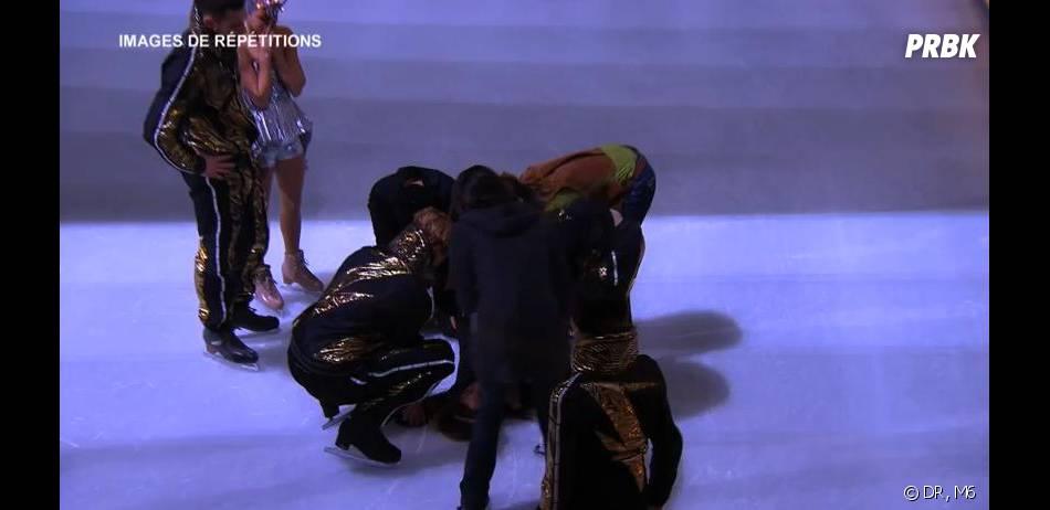 Ice Show : Merwan Rim et sa partenaire de danse ont chuté pendant les répétitions