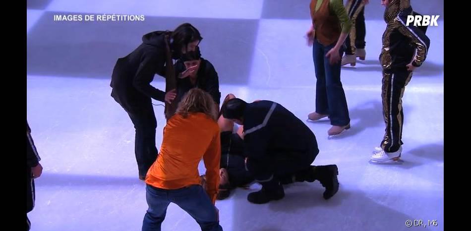 Ice Show : Merwan Rim en mode chute pendant les répétitions