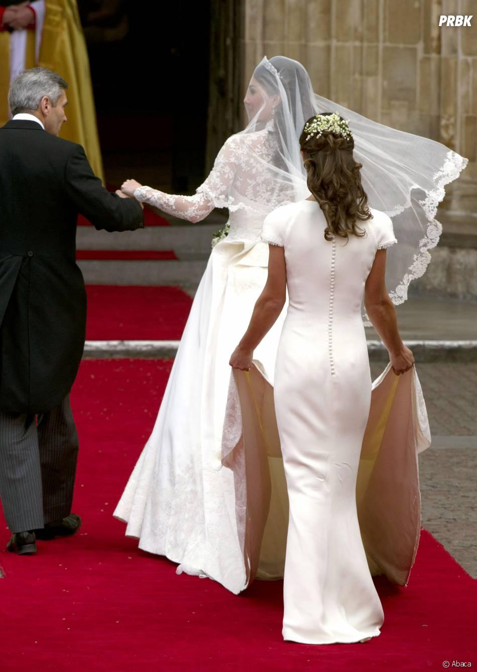 Pippa Middleton et ses célèbres fesses le jour du mariage de sa soeur Kate