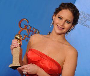 jennifer Lawrence pendant les Golden Globes 2013