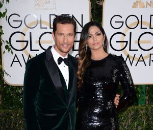 Matthew McConaughey et son épouse sur le tapis rouge des Golden Globes 2014