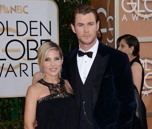 Chris Hemsworth et Elsa Pataky sur le tapis rouge des Golden Globes 2014