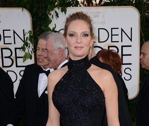 Uma Thurman sur le tapis rouge des Golden Globes 2014
