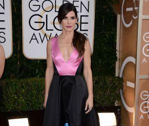 Sandra Bullock sur la tapis rouge des Golden Globes 2014, le 12 janvier à Los Angeles