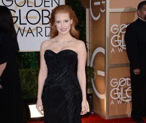 Jessica Chastain sur le tapis rouge des Golden Globes 2014