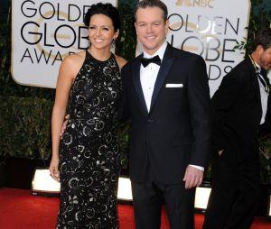 Matt Damon sur le tapis rouge des Golden Globes 2014