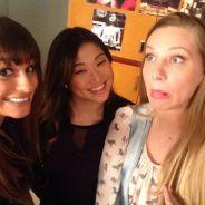 Glee saison 5 : Lea Michele, Heather Morris... nouvelles photos du tournage de l'épisode 100