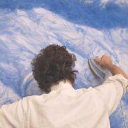 """[INSOLITE] Il crée des """"tableaux"""" à l'aide... d'un fer à repasser"""