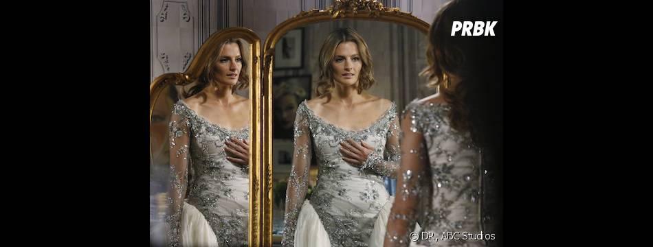Castle saison 6, épisode 14 : Stana Katic dévoile la robe de Kate