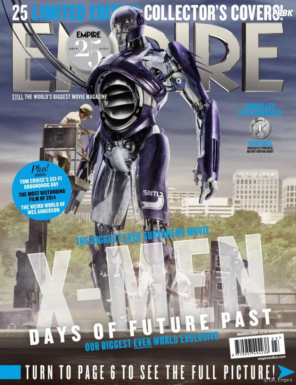 X-Men Days of Future Past : la Sentinelle sur la couverture du magazine Empire