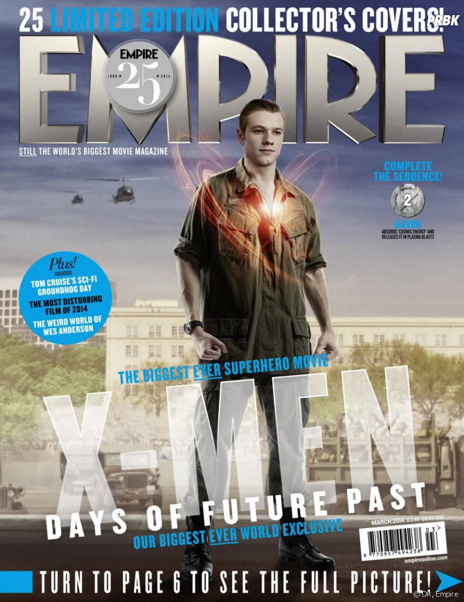X-Men Days of Future Past : Lucas Till sur la couverture du magazine Empire