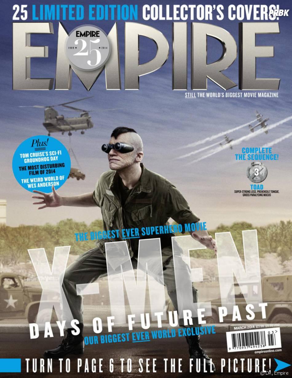 X-Men Days of Future Past : Evan Jonigkeit sur la couverture du magazine Empire