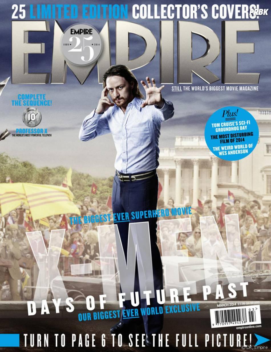 X-Men Days of Future Past : James McAvoy sur la couverture du magazine Empire