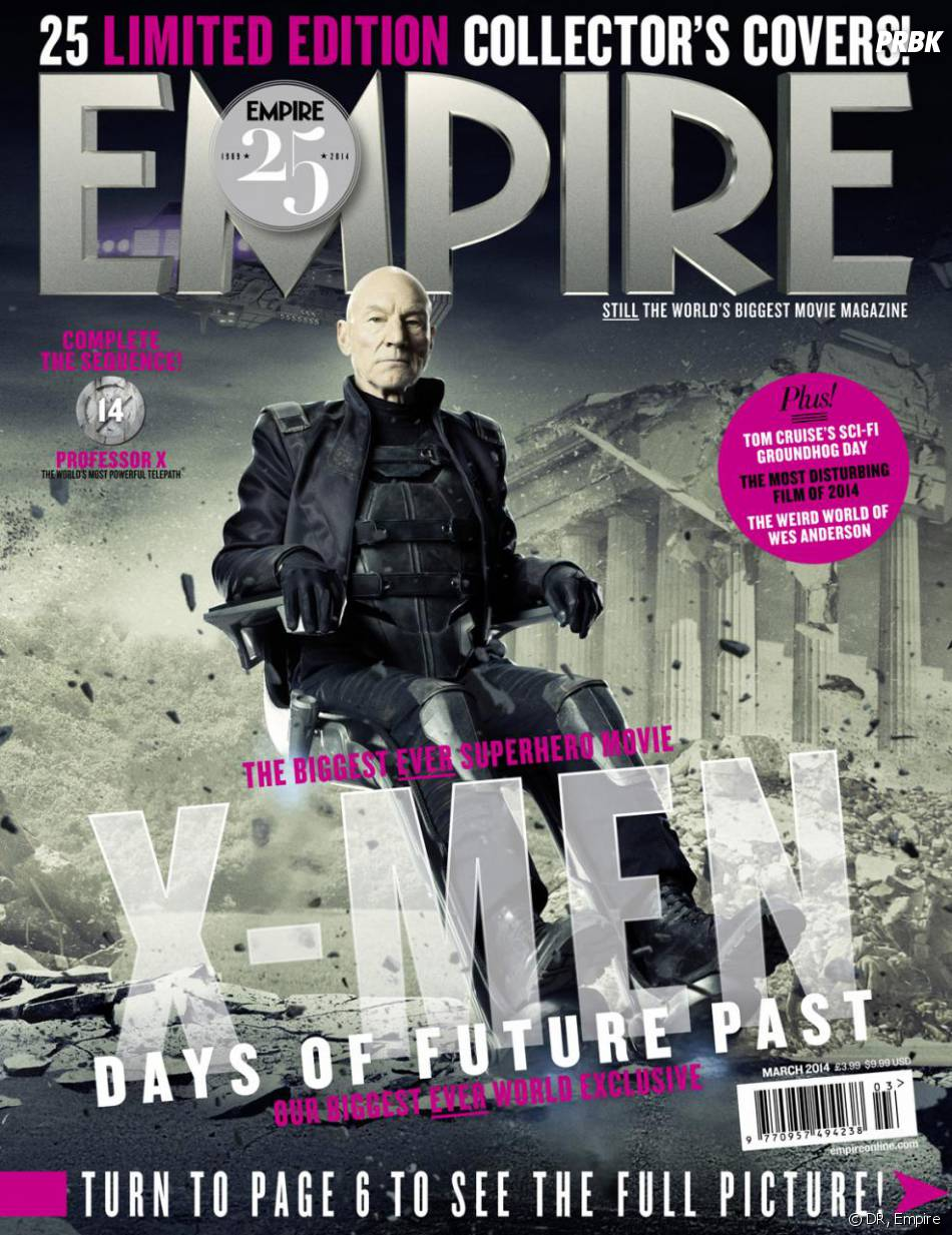 X-Men Days of Future Past : Patrick Stewart sur la couverture du magazine Empire