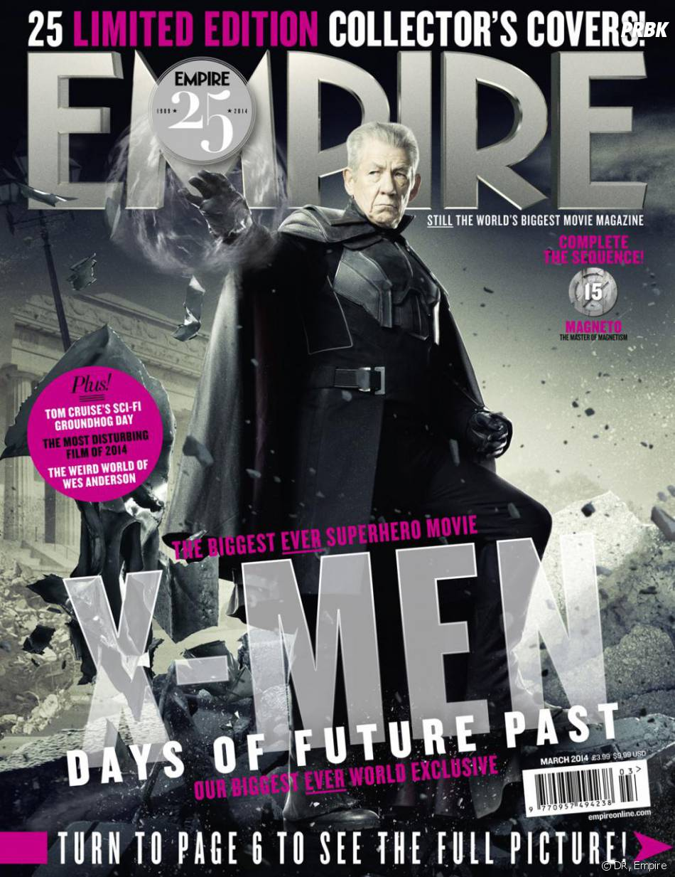X-Men Days of Future Past : Ian McKellen sur la couverture du magazine Empire