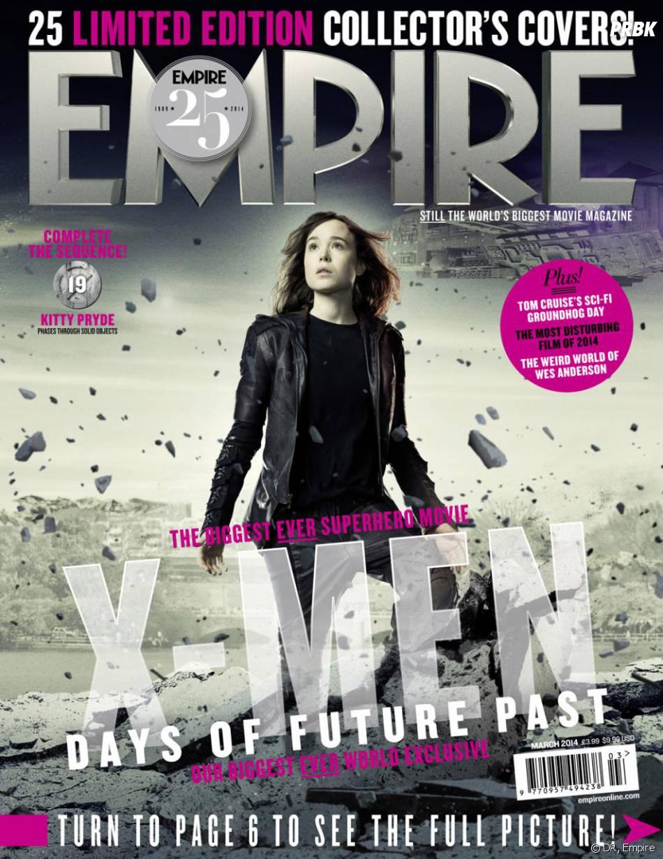 X-Men Days of Future Past : Ellen Page sur la couverture du magazine Empire