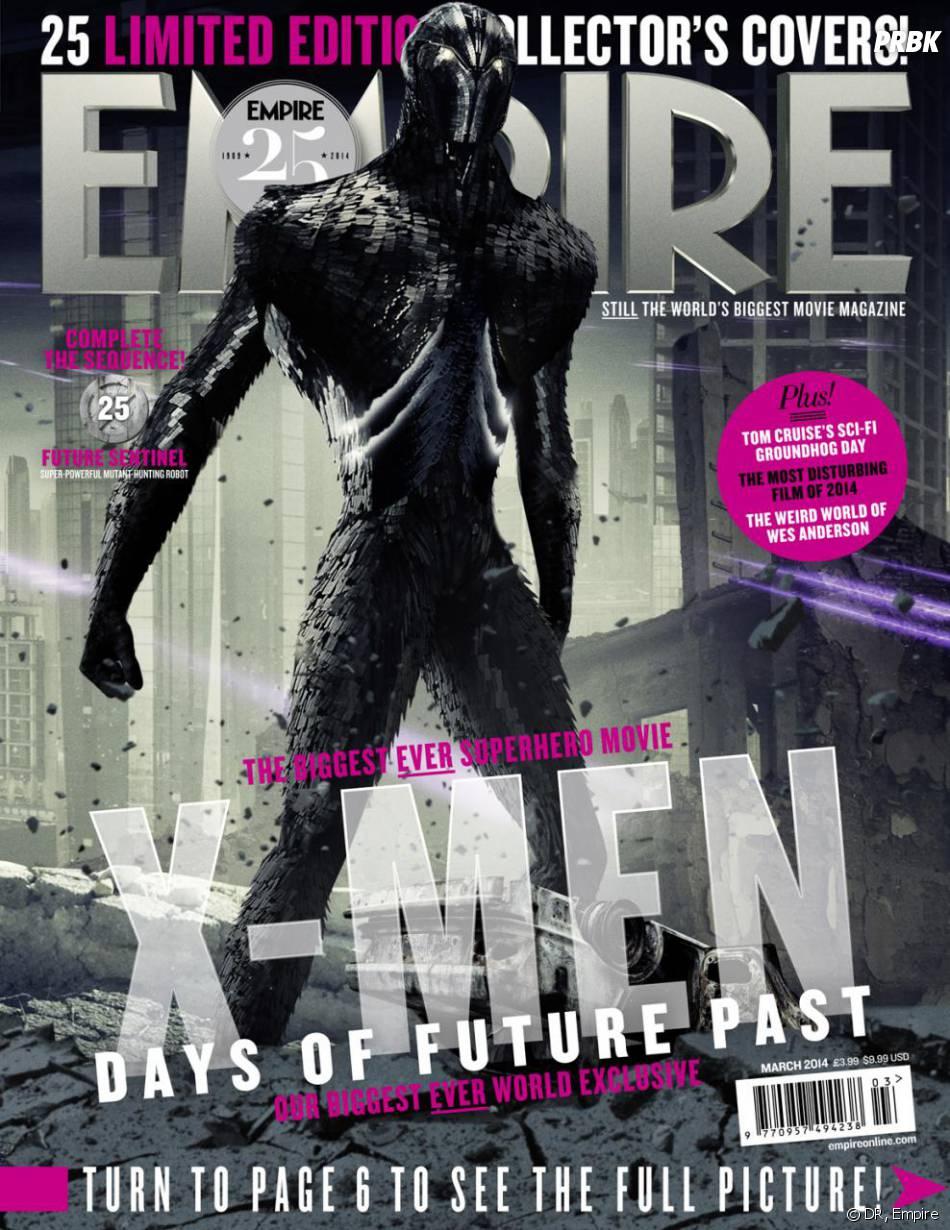 X-Men Days of Future Past : Future Sentinel sur la couverture du magazine Empire