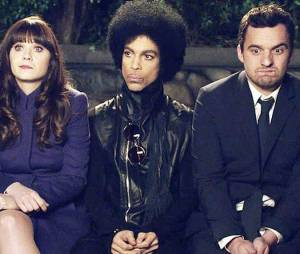 New Girl saison 3, épisode 14 : Prince entre Zooey Deschanel et Jake Johnson
