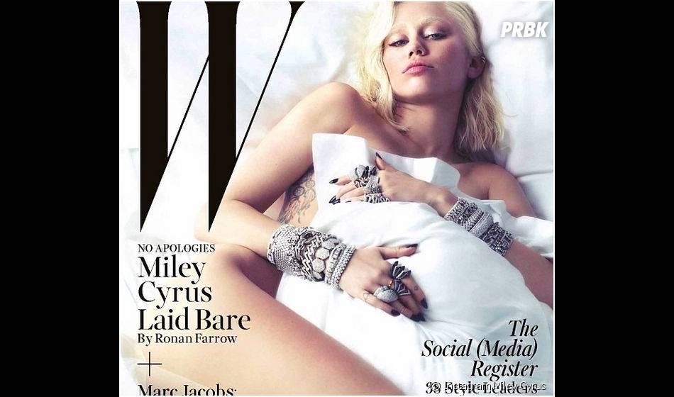 Miley Cyrus nue pour W Magazine, le 3 février 2014 sur Instagram