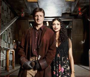 Firefly : Nathan Fillion et Morena Baccarin sur une photo