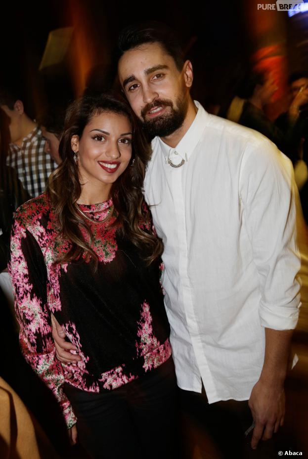 Tal et son fiancé Anthony, invités de la soirée Eleven Paris à la Gaité Lyrique et au VIP Room, le 4 mars 2014