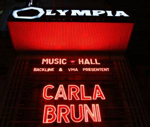 Carla Bruni en concert à l'Olympia à Paris, le 11 mars 2014