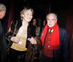 Frédéric Mitterrand et Marisa Borini au concert de Carla Bruni à l'Olympia à Paris, le 11 mars 2014