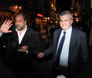 Les avocats Me Dupond-Moretti et Me Herzog au concert de Carla Bruni à l'Olympia à Paris, le 11 mars 2014